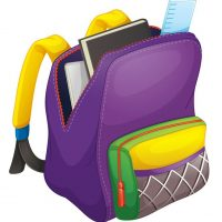 14841217 - illustration of a school bag on a white